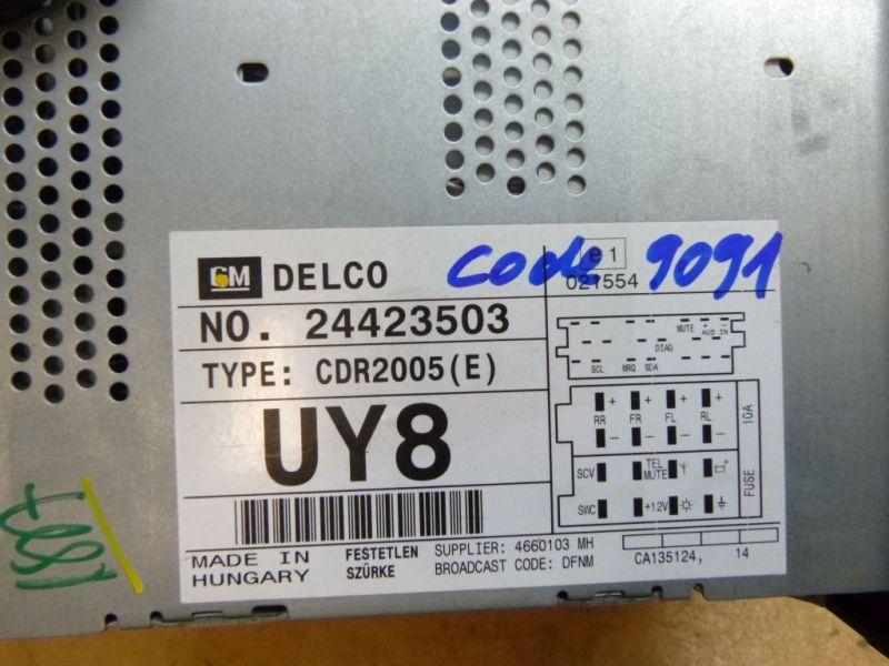 radio mit cd mit code opel corsa c (f08, f68) 1.2