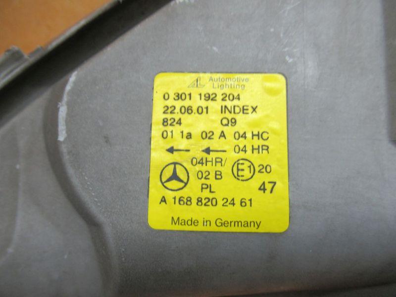 Scheinwerfer rechts MERCEDES-BENZ A-KLASSE (W168) A 210