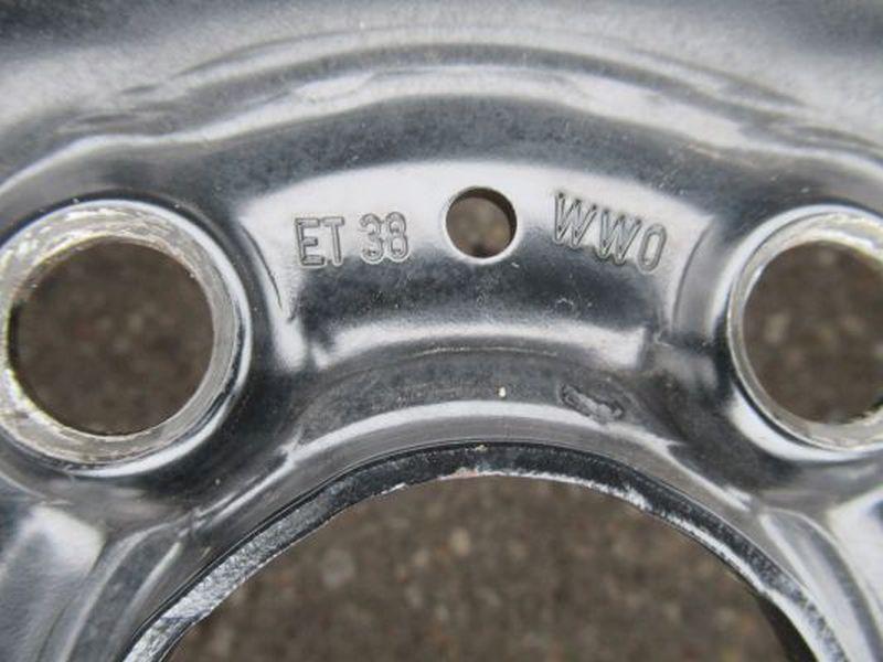 Stahlfelge 6JX15 H2 ET38 LK5X1001Satz(je4Stück)